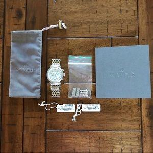 Michele CSX Diamond 36mm Chronograph Pearl Watch